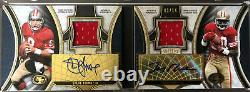 2015 Supreme Dual Patch Auto Jerry Rice / Steve Young 2/14 SF 49ers HOF Rare