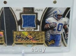 2015 Topps Supreme Jerry Rice Barry Sanders Dual Patch Auto 6/15 HOF Lions 49ERS