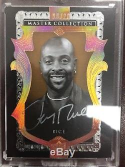2016-17 Jerry Rice Upper Deck Master Collection auto 10/20 49er's All Time Great