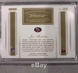 2016 Flawless Joe Montana 3 Color Dual Game Used Patch Auto 5/5 1/1 49ers Sealed