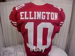 2016 NFL San Francisco 49ers Game Worn Jersey #10 Bruce Ellington Size 40