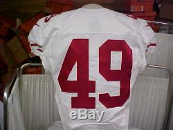 2016 NFL San Francisco 49ers Game Worn/Team Issued Jersey Player #49 Size 44