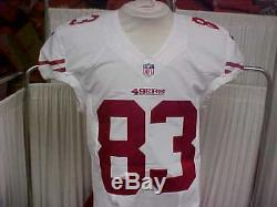 2016 NFL San Francisco 49ers Game Worn/Team Issued Jersey Player #83 Size 42