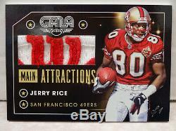 2016 Panini Gala Main Attractions #MA-JR Jerry Rice 49ers WILSON Patch #1/1