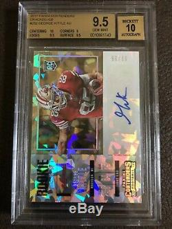 2017 Contenders George Kittle Cracked Ice Auto Rc 9/25 BGS 9.5/10