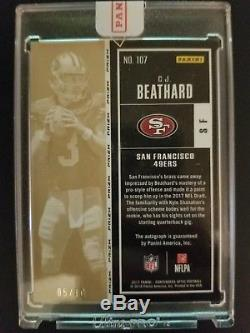 2017 Contenders Optic Gold Rookie Ticket 5/10 Auto Cj Beathard 49ers