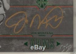 2017 Majestic Astonishing Arms on-card Auto Autograph Joe Montana True 1/1 49ers