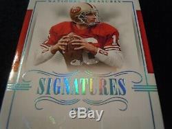 2017 National Treasures One Of One 49ers Mvp Autograph Joe Montana True 1/1 Auto