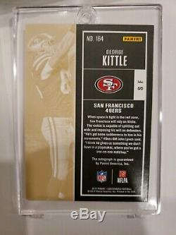 2017 Panini Contenders Championship Ticket George Kittle RC Rookie AUTO 9/49