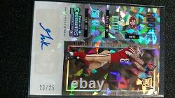 2017 Panini Contenders George Kittle Cracked Ice Rookie Ticket Auto Rc #23/25