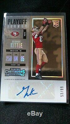2017 Panini Contenders George Kittle Playoff Ticket Rc #53/99 Mint