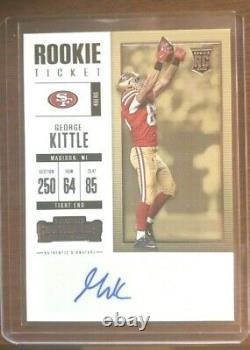 2017 Panini Contenders George Kittle Rookie Ticket Auto RC 49ers #164