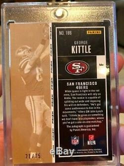 2017 Panini Contenders Optic Red Rookie Ticket George Kittle Auto RC /75