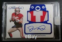 2017 Panini Flawless 49ers JOE MONTANA ENCASED SAPPHIRE PATCH AUTO /3