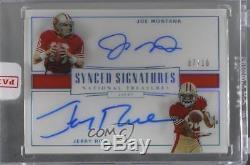 2017 Panini National Treasures #SS-JJ Jerry Rice Joe Montana Auto Football Card