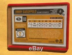 2018 Classics Jimmy Garoppolo Optichrome Auto Autograph /15 49ers