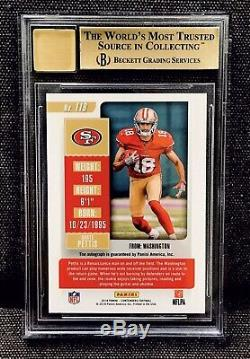 2018 Contenders DANTE PETTIS RC Ticket FOTL Red Zone Auto SSP RC 49ERS BGS 9.5