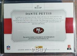 2018 Contenders Dante Pettis #'d 2/2 Colossal Nike Swoosh RPA 49ers RC SSP Auto