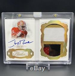 2018 Flawless Jerry Rice Booklet /10 Auto Game Used Patch 10/10 SP 49ers 4 Color