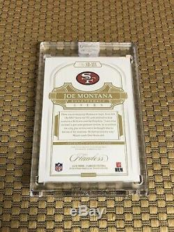 2018 Flawless Joe Montana Gold Super Bowl Mvps Ssp 7/10 On Card Auto 49ers