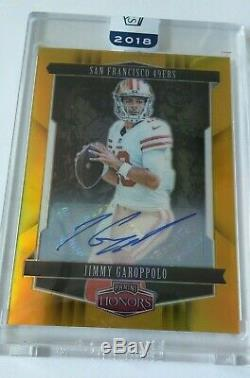 2018 HONORS Jimmy Garoppolo GOLD #10/20 AUTO/autograph Signatures RARE HIS JRSY#