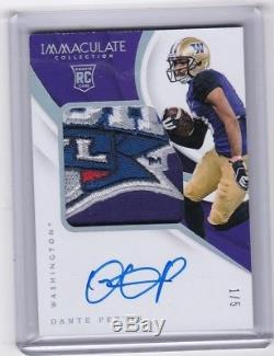 2018 Immaculate Dante Pettis Bowl patch RC serial #1/5