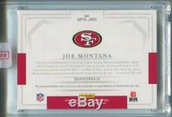 2018 Joe Montana National Treasures AUTO PATCH Autograph 3/5 San Francisco 49ers