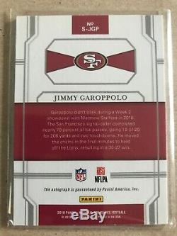 2018 National Treasures Jimmy Garoppolo 9/25 Signatures Auto 49ers Jimmy G