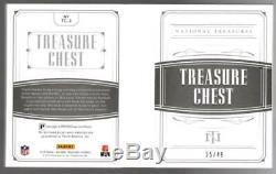 2018 National Treasures Treasure Chest Brady Montana 24 Patch Book #'d 25/49