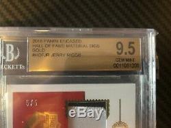 2018 PANINI ENCASED JERRY RICE 49ers 5/5 HOF AUTO JERSEY BGS 9.5 AU 10 Ebay 1/1