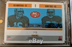 2018 Panini Classics Joe Montana -Jerry Rice Classic Combos Dual Auto #/5.49ers