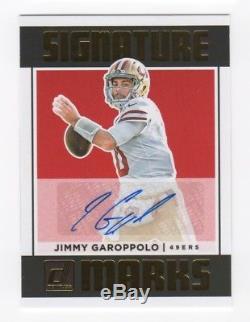 2018 Panini Donruss NFL JIMMY GAROPPOLO Signature Marks Autograph Auto 49ERS