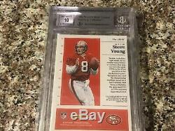 2018 Panini Encased 49ers Steve Young AUTO PATCH /5 BGS Graded 9