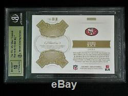 2018 Panini Flawless Jerry Rice Auto Patch #1/5 BGS 9.5 Gem Mint/Auto10 49ers