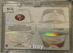 2018 Panini Flawless Joe Montana Veteran Letter Patch booklet auto 5/7 49ers