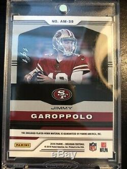 2018 Panini Jimmy Garoppolo San Francisco 49ers 1/1 NFL Logo Jersey Patch