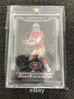 2018 Panini Obsidian Electric Etch Black #1 Jimmy Garoppolo 1/1 49ERS