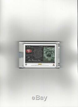 2018 Panini One JERRY RICE Quad Tag Auto Black (1/1) 49ers! Team Logo & Shield