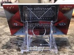 2018 Spectra Joe Montana 1/1 Auto Super Bowl Signature Gold Prizm Superfractor