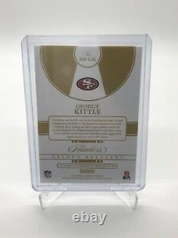 2019-20 Panini Flawless George Kittle Record Breakers Silver Auto 11/20 49ers