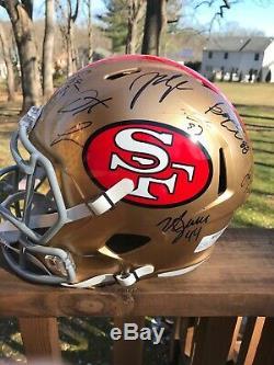 2019-2020 Autographed San Francisco 49ers Team Fullsize Replica Helmet Buckner