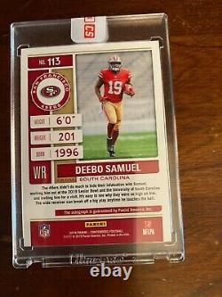 2019 Contenders Football Deebo Samuel Auto #d/23 RC Cracked Ice Rookie Ticket