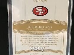 2019 Flawless Joe Montana Auto /5 Draft Gems San Francisco 49ers Case Hit