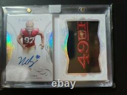 2019 Flawless Nick Bosa #RBA-NBO Rookie Booklet Auto Team Logo 49ers RC RPA 7/10