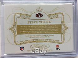 2019 Flawless Steve Young 49ers 2 Color on card auto Autograph Patch card 05/15