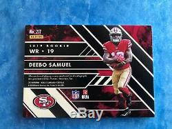 2019 Gold Standard DEEBO SAMUEL RC NFL Shield Nike Auto True 1/1 49ers