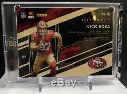 2019 Gold Standard Nick Bosa NFL Shield Auto TRUE 1/1! RC 49ers
