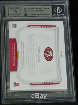 2019 National Treasures Red Brand Logo Patch #165 RC Auto Nick Bosa #2/2 BGS 8.5