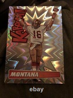 2019 Panini Absolute Football Kaboom! Joe Montana 49'ers HOF SSP Ultra RARE