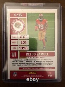 2019 Panini Contenders DEEBO SAMUEL ROOKIE TICKET AUTO SP ON CARD AUTO 49ERS
